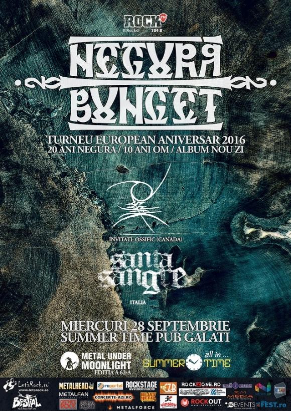 NEGURA BUNGET, Ossific, Santa Sangre (Metal Under Moonlight LXII, 28.09.2016)