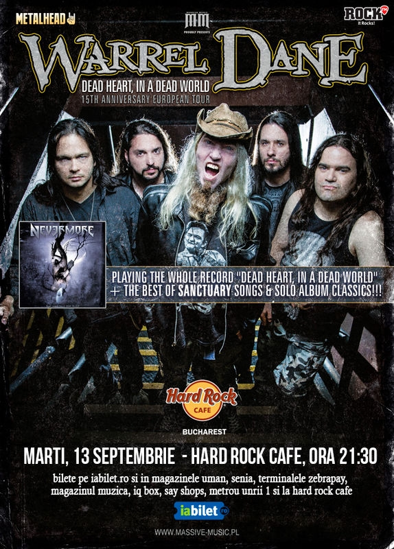 Trupa Dreamrites din Grecia canta in deschiderea concertului Warrel Dane de la Hard Rock Cafe