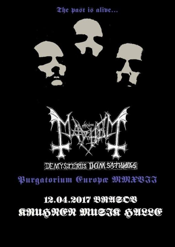 Concert Mayhem in Kruhnen Musik Halle din Brasov