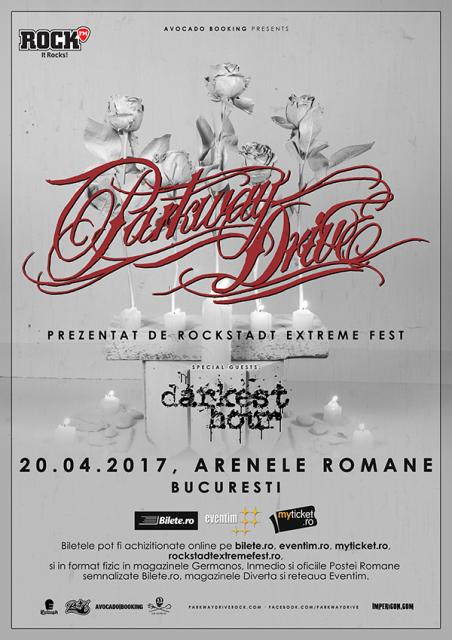 PARKWAY DRIVE vor concerta la Arenele Romane pe 20 aprilie 2017