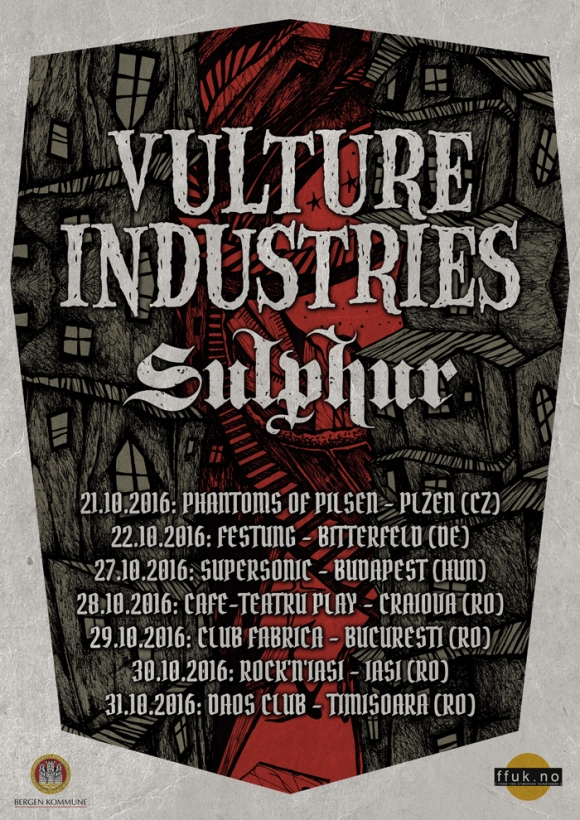 Turneul 'The Tower Falls' cu Vulture Industries & Sulphur