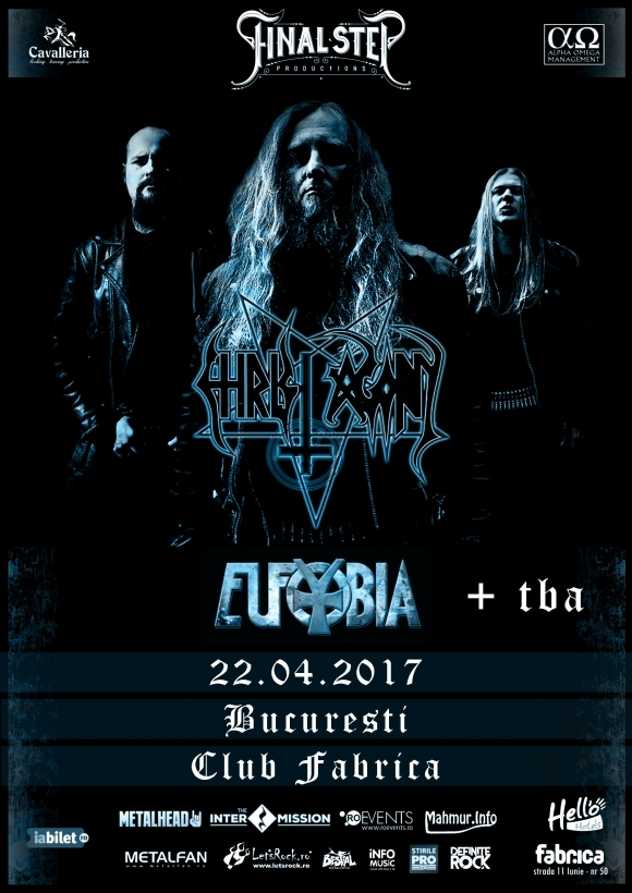 Christ Agony, Eufobia + TBA concerteaza in Club Fabrica