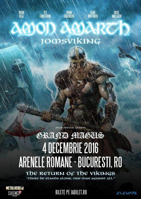 Concert Amon Amarth la Arenele Romane din Bucuresti