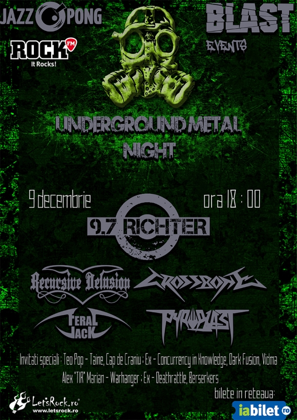 Underground Metal Night in club Jazz Pong