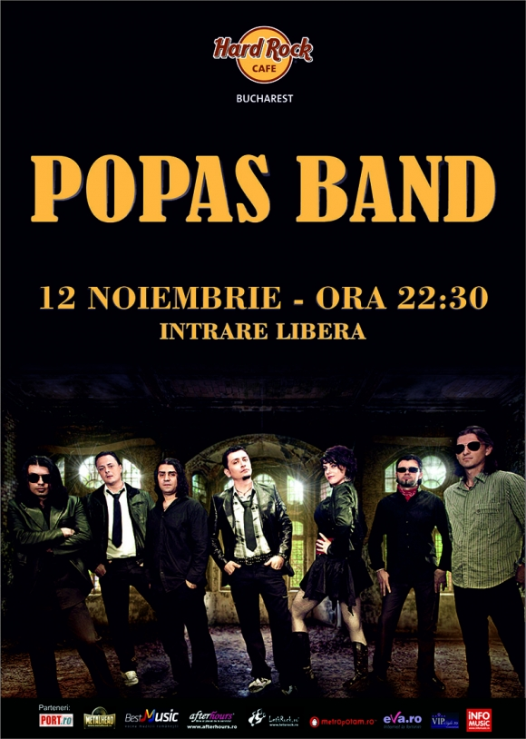 Un nou concert Popas Band in Hard Rock Cafe