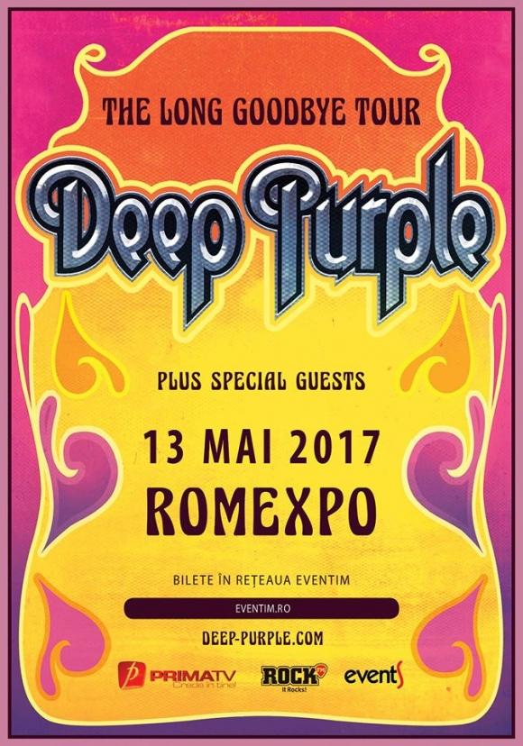 Deep Purple vor concerta anul viitor la Romexpo