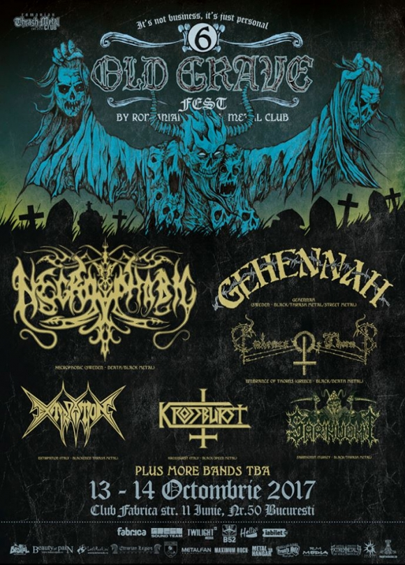 Embrace of Thorns, Gehennah si Extirpation au fost confirmate la Old Grave Fest 2017