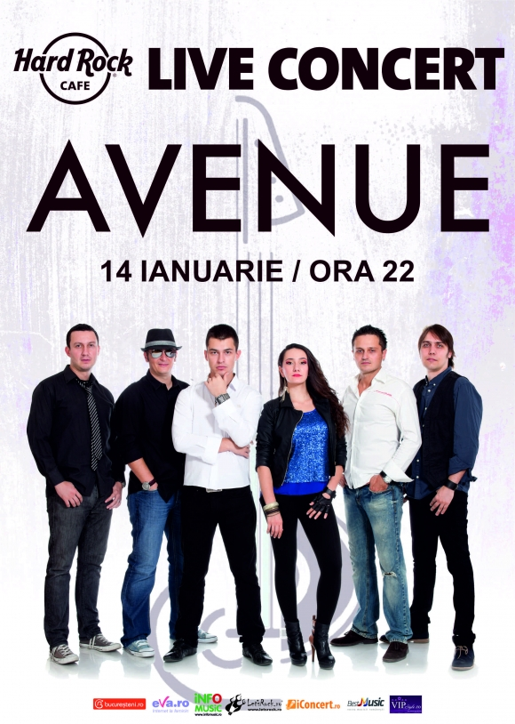 Concert Avenue la Hard Rock Cafe pe 14 ianuarie