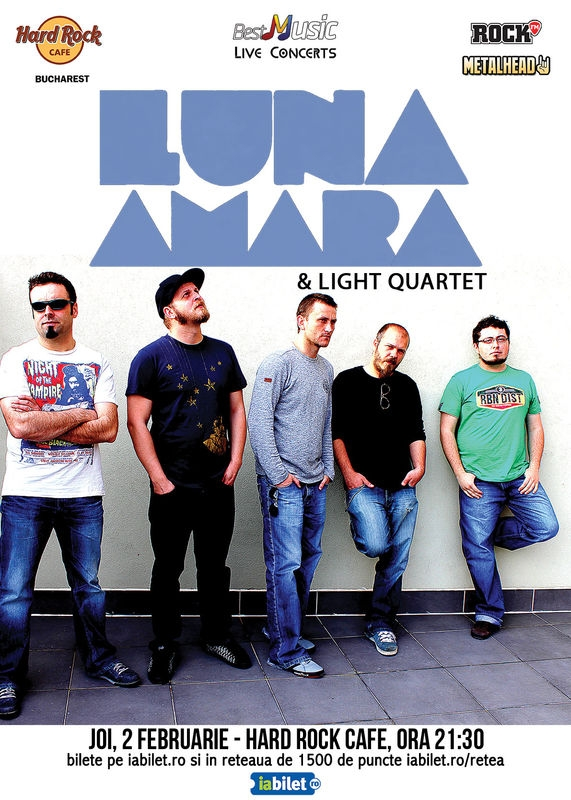 Luna Amara si Light Quartet concerteaza pe 2 februarie la Hard Rock Cafe