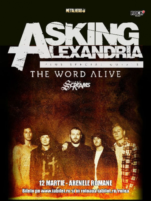 Silent Screams si The Word Alive vor deschide concertul Asking Alexandria de la Arenele Romane