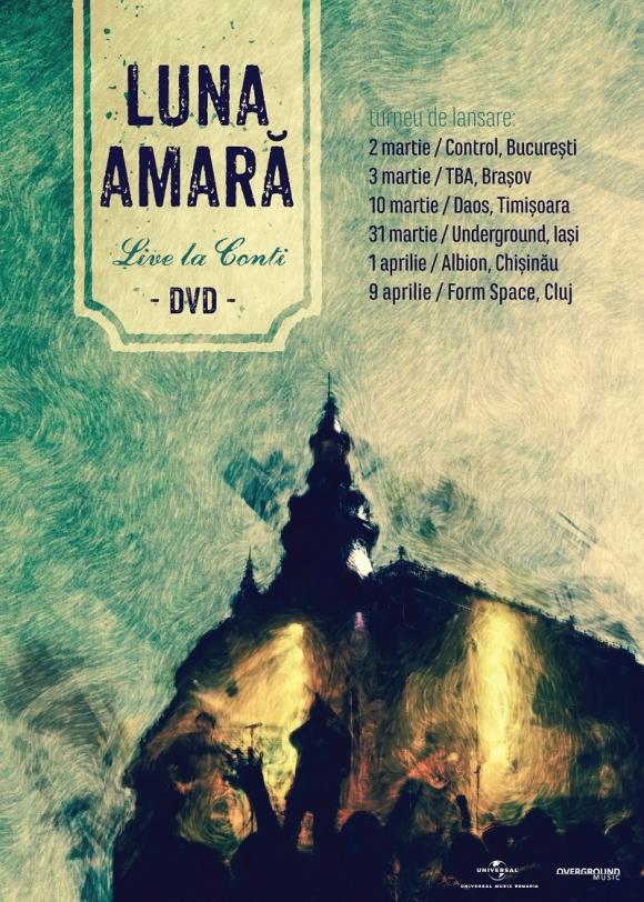 """Luna Amara lanseaza DVD-ul """"Live la Conti"""" pe 2 martie la Bucuresti"""