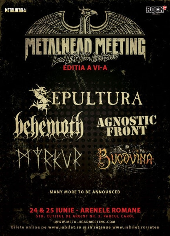 Noi confirmari la festivalul Metalhead Meeting 2017