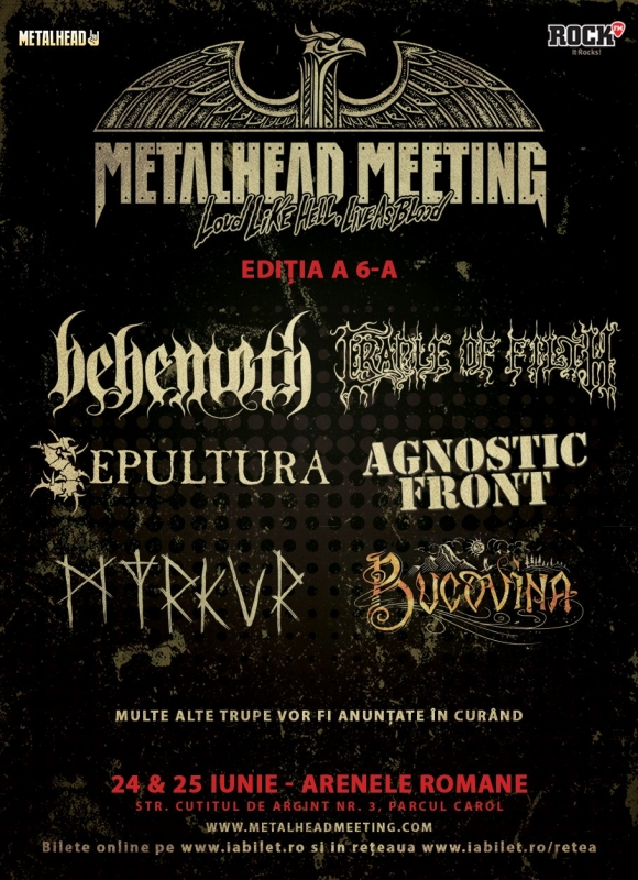 Cradle of Filth vor canta la Metalhead Meeting Festival 2017