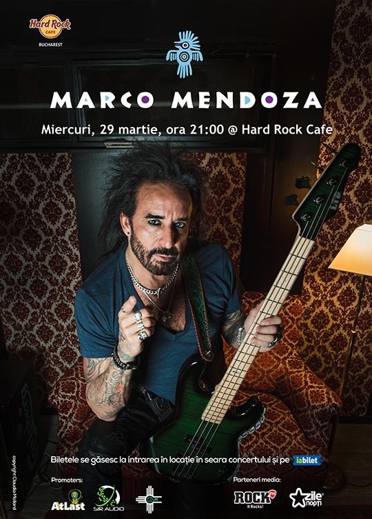 Concert Marco Mendoza la Hard Rock Cafe