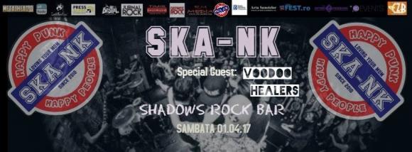 Concert Ska Nk si Voodoo Healers de 1 aprilie in Shadows Rock Bar din Baia Mare