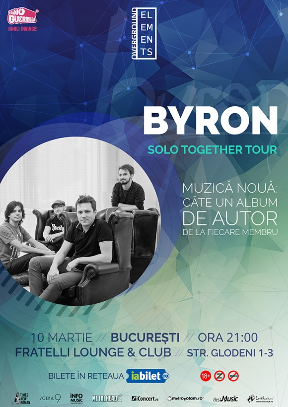 Concert byron din cadrul turneului Solo Together, in Fratelli Lounge & Club