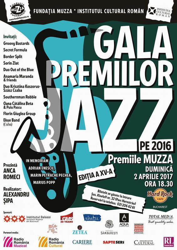 Hard Rock Cafe gazduieste Gala Premiilor de Jazz – Premiile Muzza pe 2 aprilie