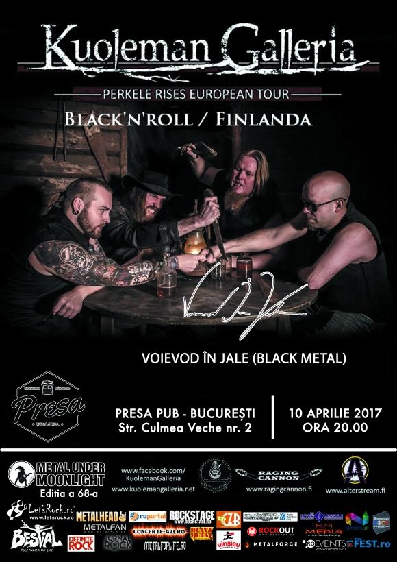 KUOLEMAN GALLERIA, Voievod In Jale (Metal Under Moonlight LXVIII, 10.04.2017)