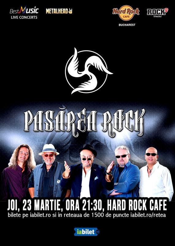 Pasarea Rock canta pe 23 martie la Hard Rock Cafe