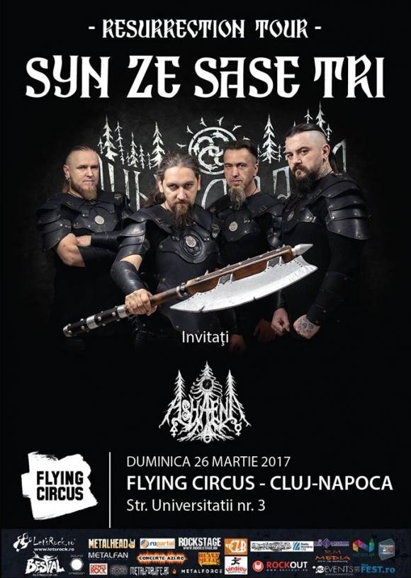 Syn Ze Sase Tri anunta doua noi concerte: Cluj-Napoca si Sibiu