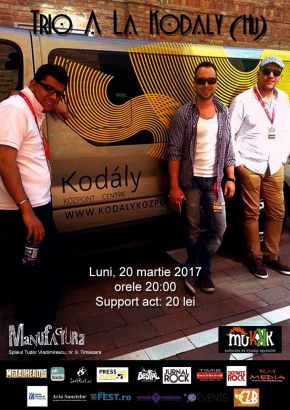 Trio A La Kodaly concerteaza in Club Manufactura