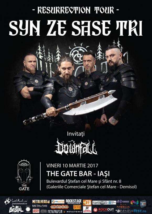 Weekend black metal cu Syn Ze Sase Tri si Downfall la Iasi, Suceava si Targu Mures