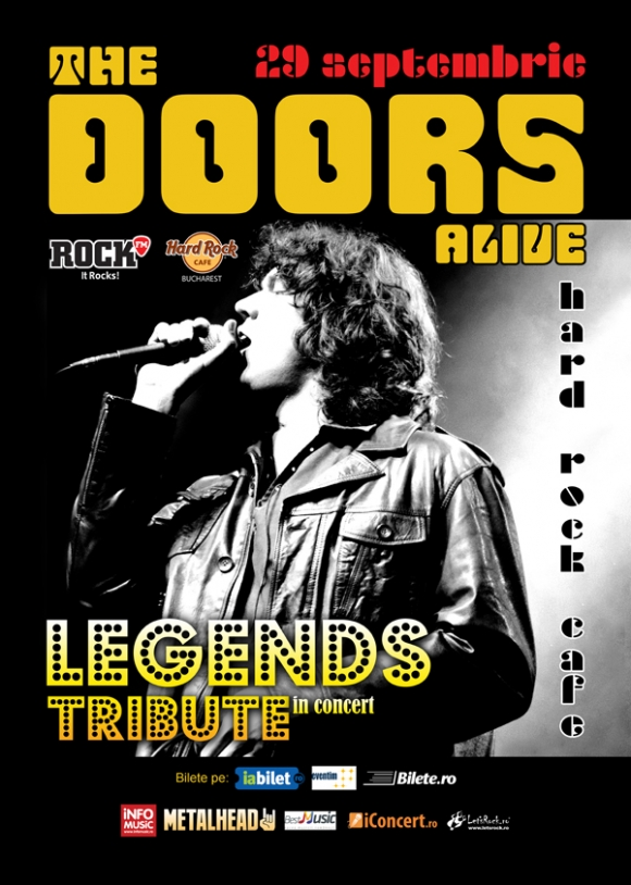 Cei de la The Doors Alive aduc hiturile lansate de Jim Morrison la Hard Rock Cafe