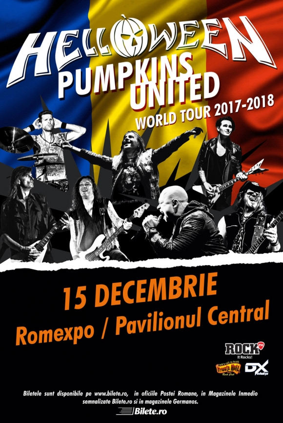 Concert Helloween la Romexpo Bucuresti - 'Pumpkins United World Tour 2017-2018'