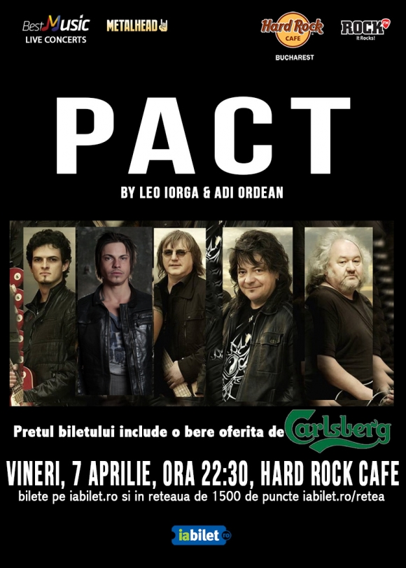 Concert PACT by Leo Iorga si Adi Ordean la Hard Rock Cafe