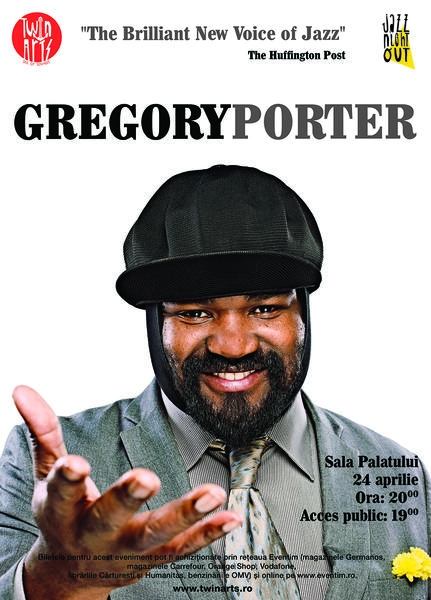 Gregory Porter va concerta la Sala Palatului din Bucuresti