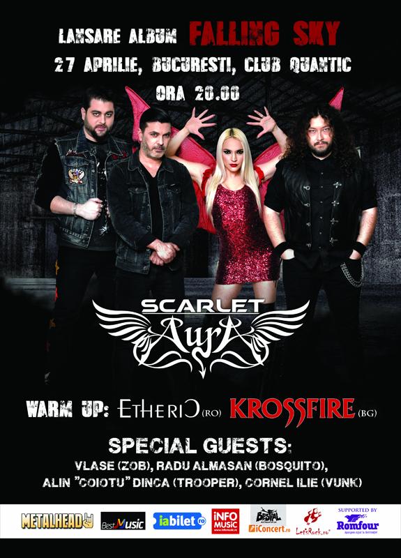 """Scarlet Aura anunta invitatii din cadrul concertului de lansare """"Falling Sky"""" programat pe 27 aprilie"""