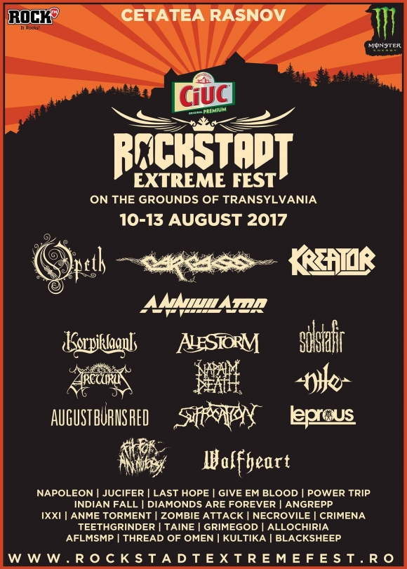 Solstafir si Arcturus confirmati pentru Rockstadt Extreme Fest 2017