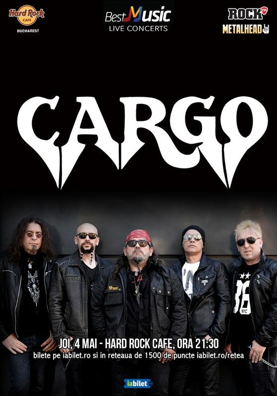Trupa Cargo concerteaza in noua formula pe 4 mai la Hard Rock Cafe