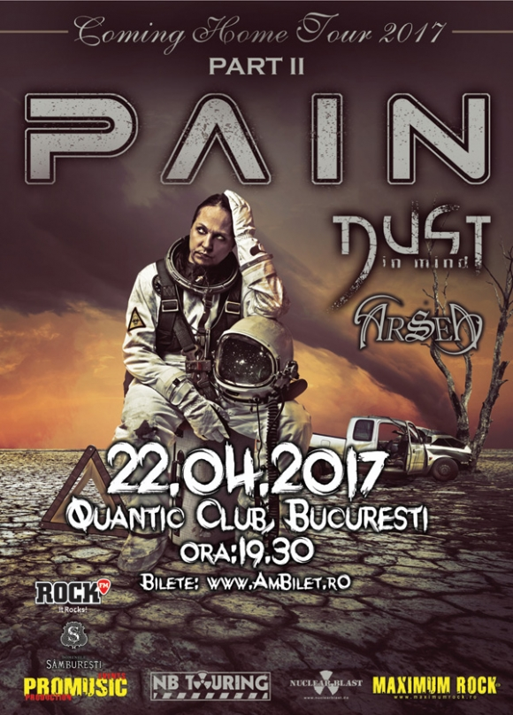 Trupa Pain concerteaza in Quantic Club