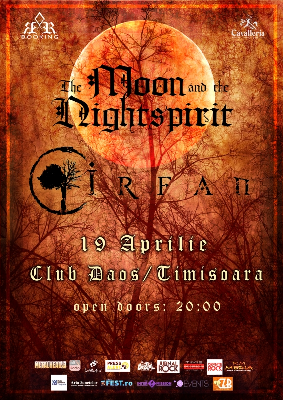 Trupele Irfan si The Moon And The Nightspirit concerteaza la Timisoara