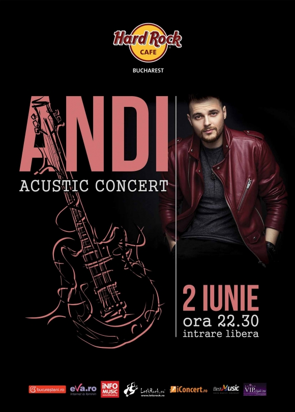 Concert acustic Andi la Hard Rock Cafe