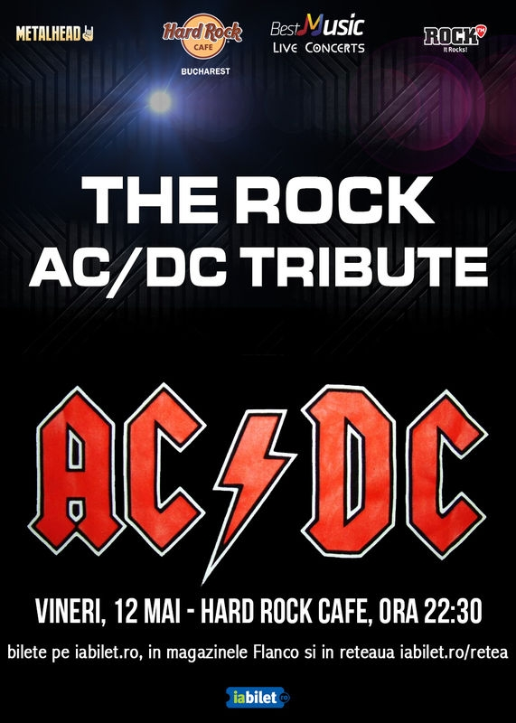 Concert tribut AC/DC cu THE R.O.C.K. la Hard Rock Cafe