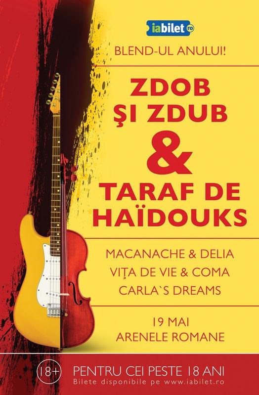 J&B Blending Spirits Arena de la Arenele Romane ii are ca invitati pe Carla's Dreams, alaturi de Vita de Vie, Zdob si Zdub si altii