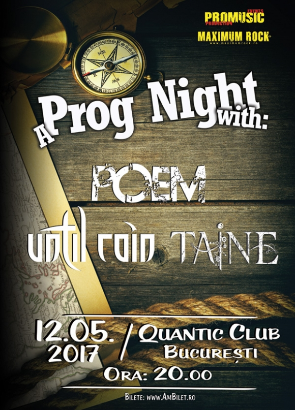 Trupele Poem (GR), Until Rain (GR) si Taine (RO) concerteaza in Quantic Club