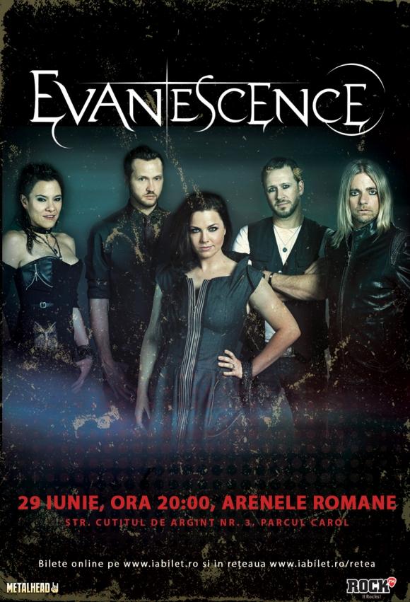 Ultimele doua saptamani de bilete la oferta pentru concertul Evanescence la Bucuresti