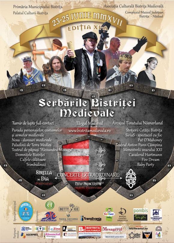 Serbarile Bistritei Medievale 2017, editia a XI- a