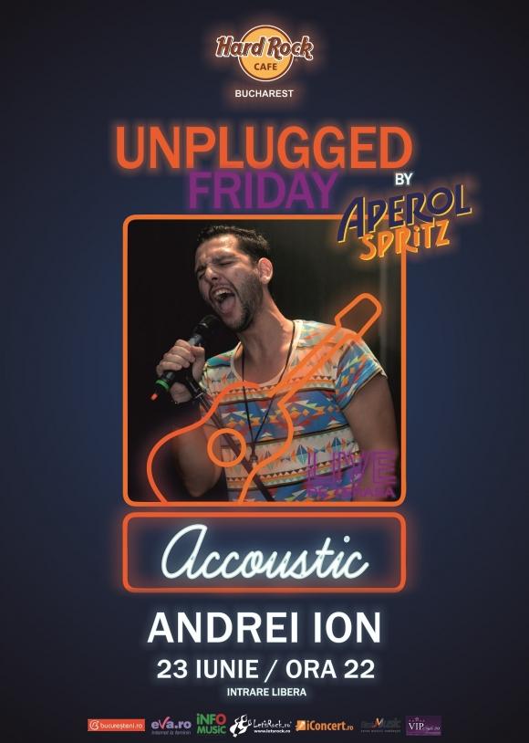 Unplugged Friday cu Andrei Ion pe terasa Hard Rock Cafe
