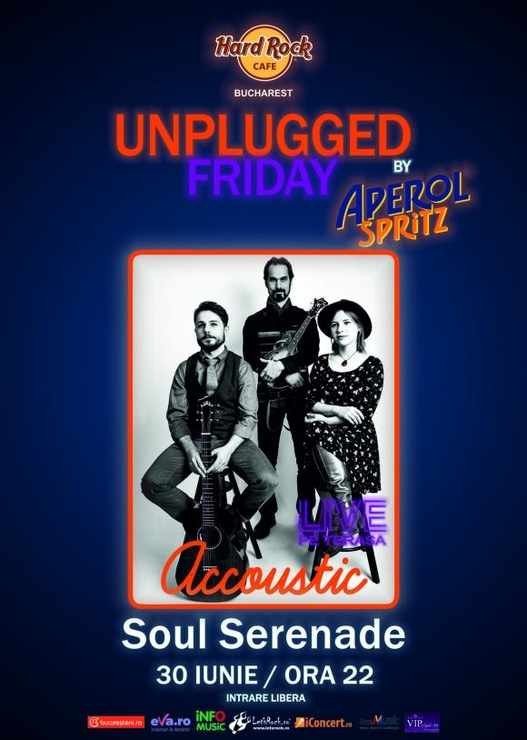 Unplugged Friday cu Soul Serenade pe terasa Hard Rock