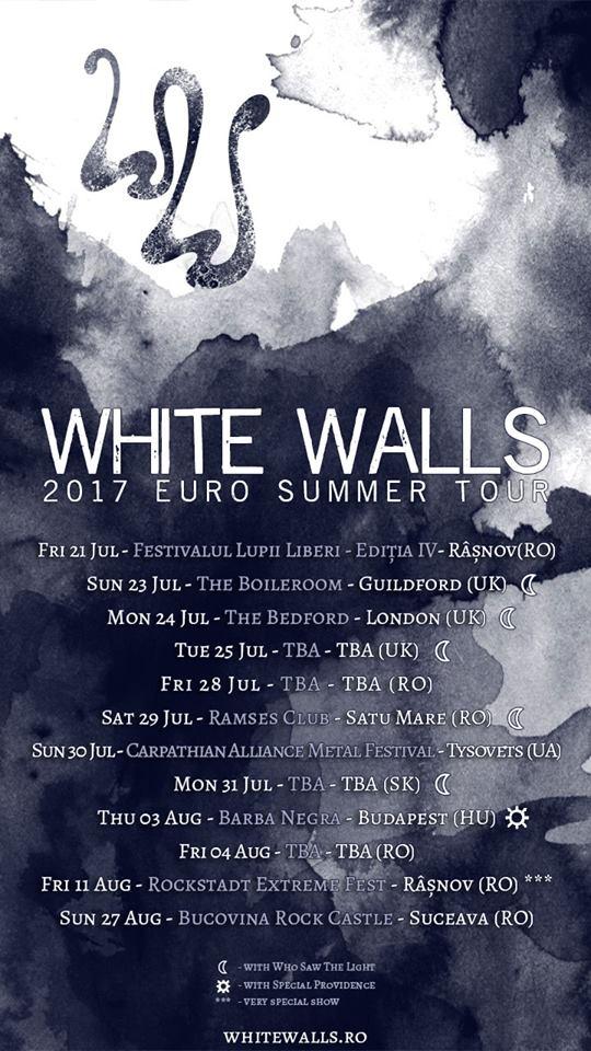 White Walls ajunge in Marea Britanie in cadrul turneului European din cursul verii
