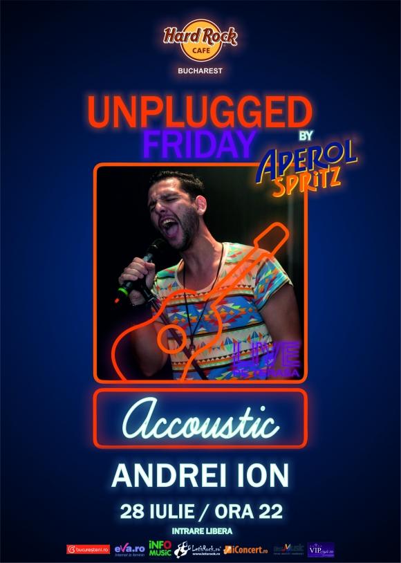 Concert unplugged cu Andrei Ion pe terasa Hard Rock Cafe