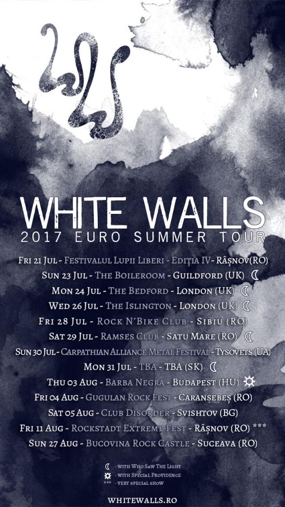 Patru show-uri noi si inca o tara vizitata de White Walls in turneul European ce incepe saptamana viitoare!