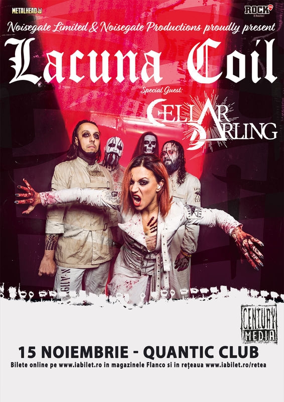 Concert Lacuna Coil si Cellar Darling in Quantic Club
