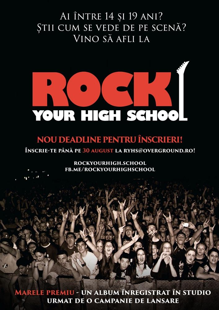 La Bacau are loc a cincea editie Rock Your High School, concursul dedicat trupelor alcatuite din liceeni