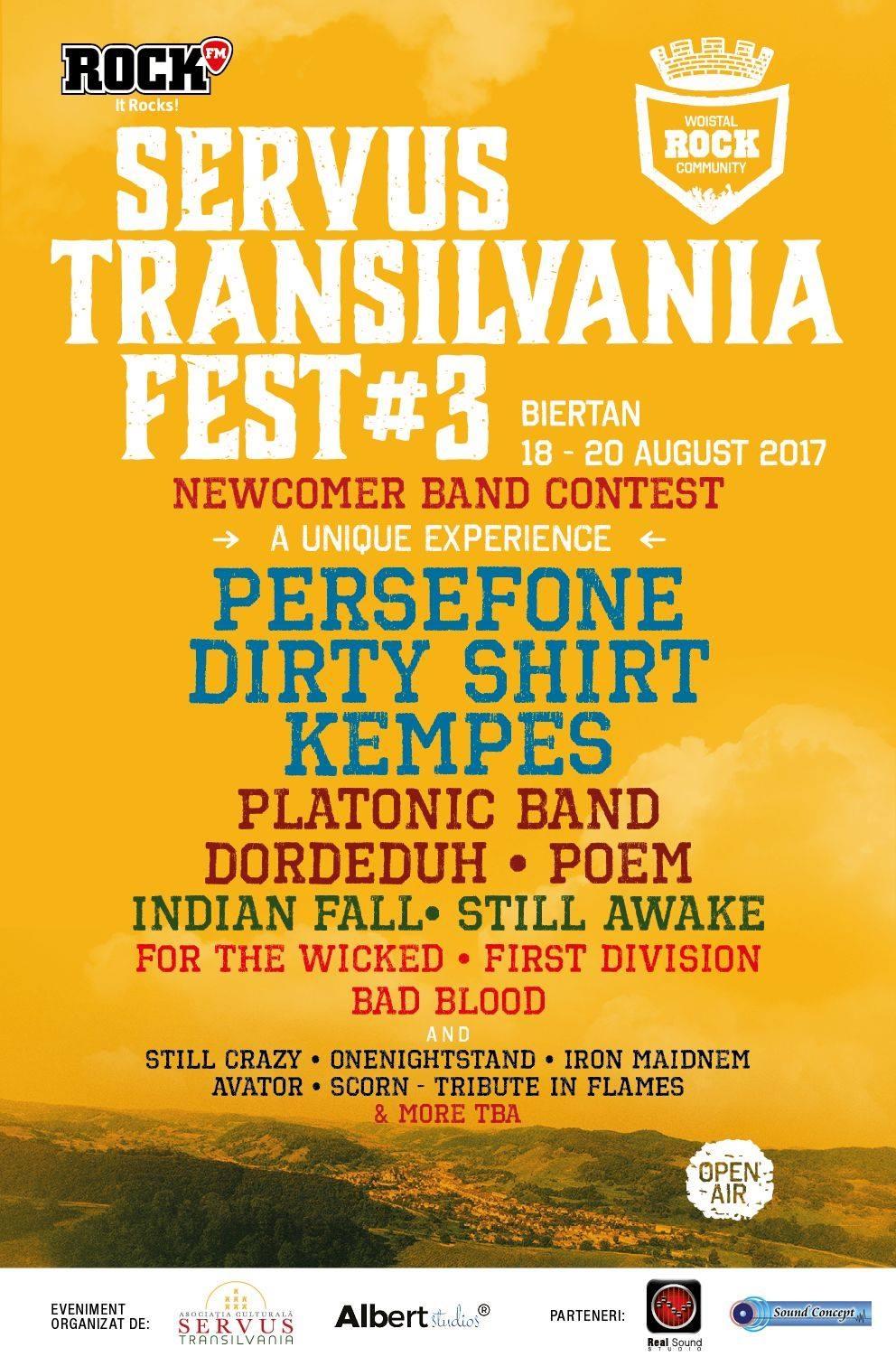 Premiile Newcomer Band Contest si noutati despre Servus Transilvania Fest #3