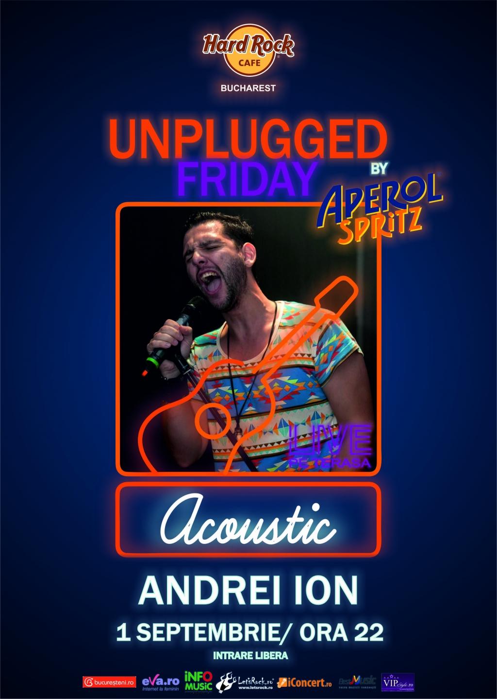 Unplugged Friday cu Andrei Ion la Hard Rock Cafe